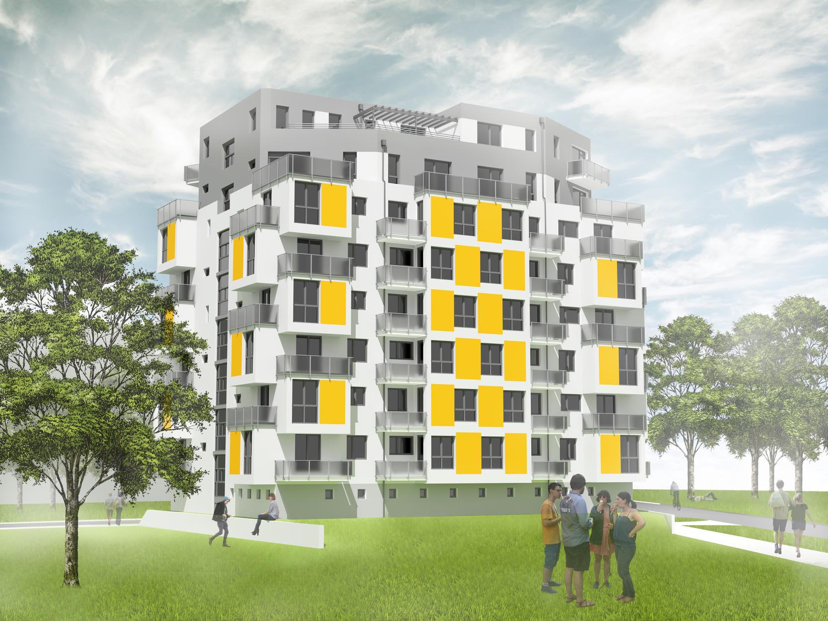 Bytový dům Jírovcova K - pohled jihovýchodní