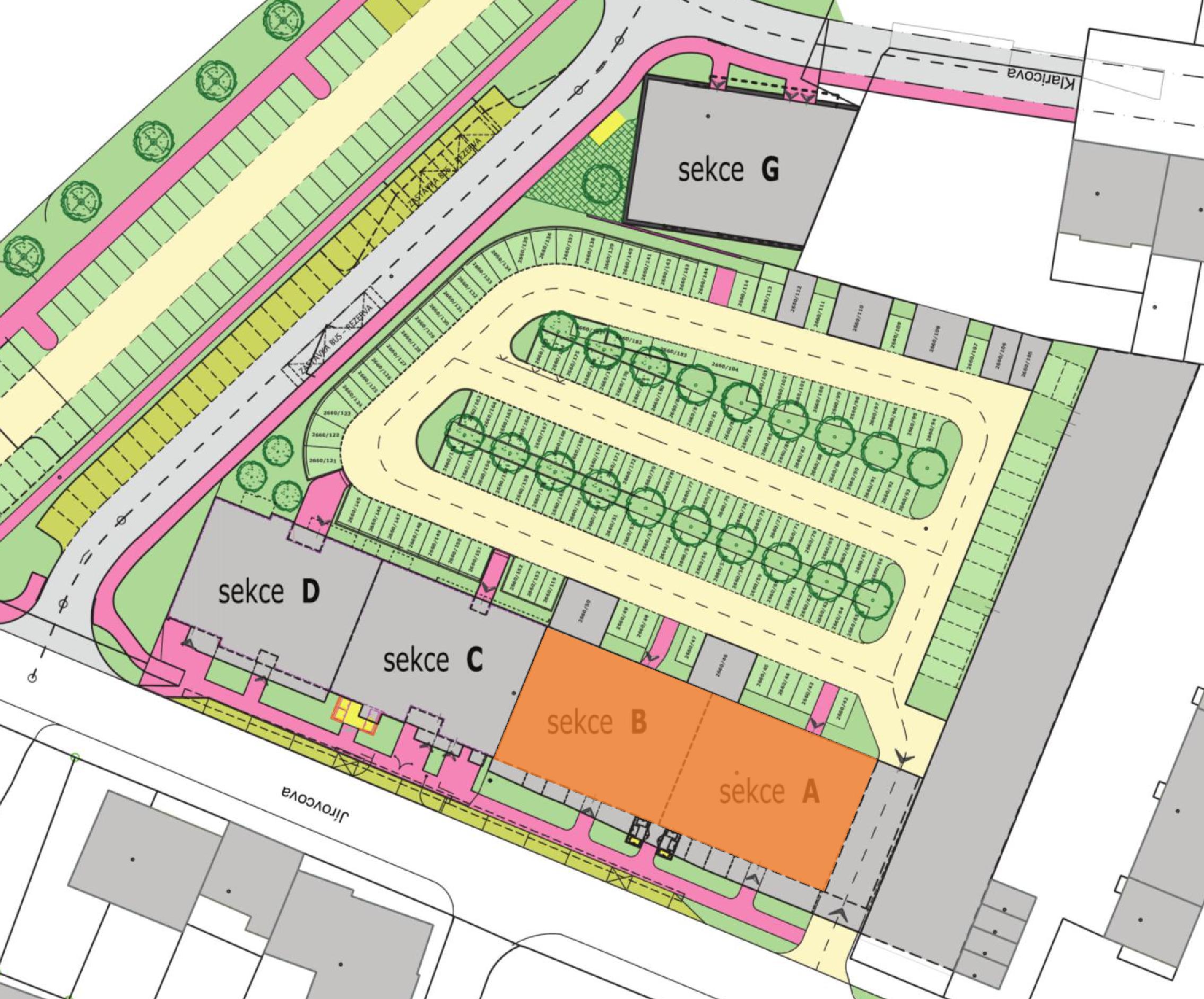 Bytové domy Jírovcova - I. etapa - sekce A a B